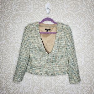 Ann Taylor Green Tweed Blazer 4